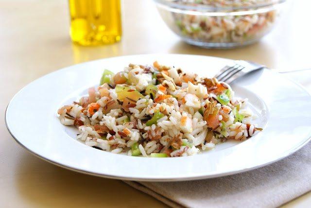 Ensalada de arroz con salmón ahumado (2 raciones)